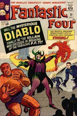 Origin and First Appearance, Diablo, Fantastic Four #30, Marvel Comics, 1964. Click for value
