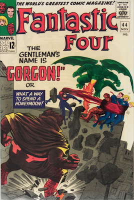 First appearance of Gorgon: Fantastic Four #44. Click for value
