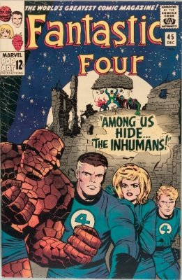 Origin and First Appearance, Inhumans, Fantastic Four #45, Marvel Comics, 1965. Click for value