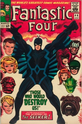 Second appearance and first cover: Fantastic Four #46. Click for values