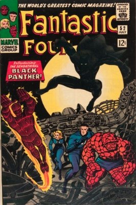 Top 20 Hot Comics #12: Fantastic Four #52, First Appearance of Black Panther. Click for value