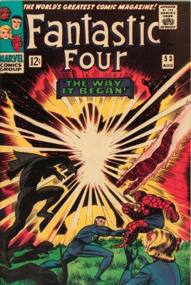 Fantastic Four #53 (Marvel, 1966): Brief Origin of Black Panther; First Appearance of Ulysses Klaw. Click for values