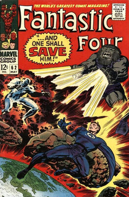 Origin and First Appearance, Blastaar, Fantastic Four #62, Marvel Comics, 1967. Click for value