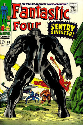 Origin and First Appearance, Intergalactic Sentry #459, Fantastic Four #64, Marvel Comics, 1967. Click for value
