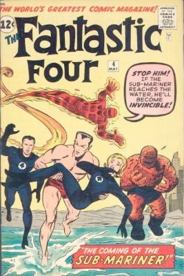 Fantastic Four #4 features the first Silver Age appearance of the Sub-Mariner. Click for value