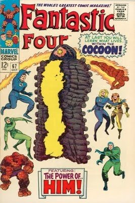 Fantastic Four #67, first brief appearance of HIM (The Warlock). Click for value
