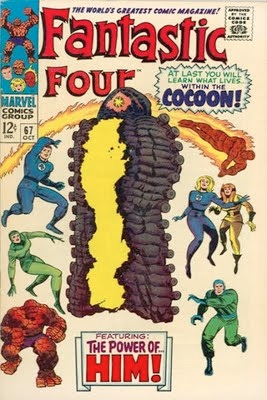 Fantastic Four #67: First brief appearance of HIM (Adam Warlock). Click for values