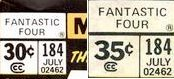 in the 1970s Marvel raised the price of certain Fantastic Four comic book issues in limited test markets. These are known as price variants, and are strongly collectible