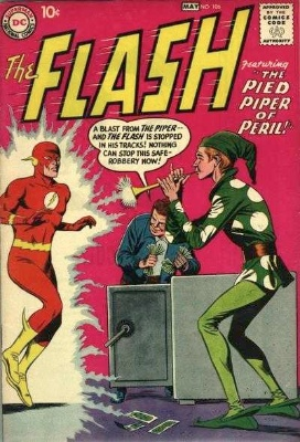 Origin and First Appearance, Pied Piper, Flash #106, DC Comics, 1959. Click for value