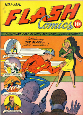 Flash Comics #1 (1940). A very rare comic book!