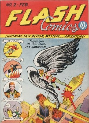 Flash Comics #2: Second Appearance in the Golden Age. Click for values
