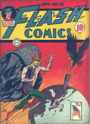Origin and First Appearance, The Shade, Flash Comics #33, September, 1942. Click for value