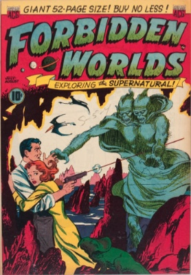 Forbidden Worlds #1 from American Comics Group. Click for values
