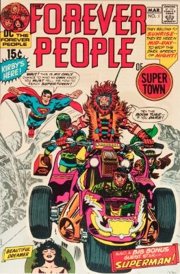 Origin and First Appearance, The Forever People, Forever People #1, DC Comics, 1971. Own this comic book? Have yours valued today.