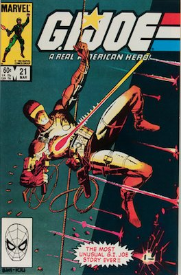 G. I. Joe #21 (1984): First Appearance of Snake Eyes and Storm Shadow; So-called