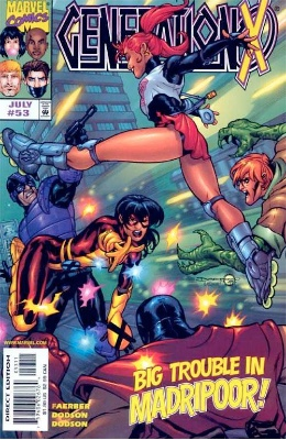 Origin and First Appearance, Nightwind, Generation X #53, Marvel Comics, 1999. Click for value