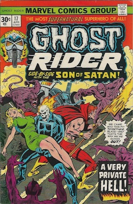 Ghost Rider #17 Marvel 30 Cent Price Variants May, 1976. Regular Price Box