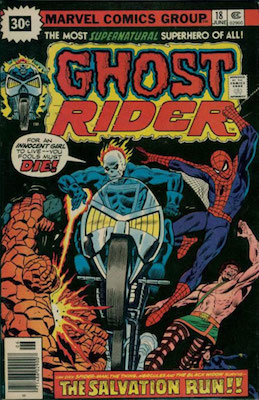 Ghost Rider #18 30 Cent Variant June, 1976. Price in Starburst