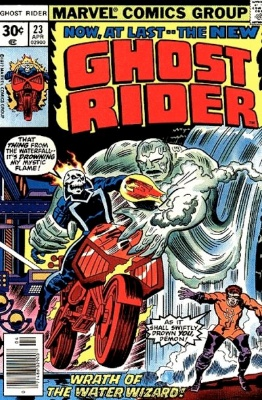 Origin and First Appearance, Aqueduct, Ghost Rider #23, Marvel Comics, 1977. Click for value