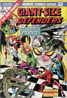DROPPED OUT OF THIS YEAR'S LIST: Giant-Size Defenders #3, 1st Appearance of Korvac