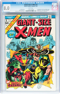 Giant-Size X-Men #1 is an expensive book in high grade. We recommend a crisp CGC 8.0 with white pages. Click to buy a copy
