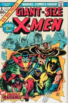 Marvel published many special editions and summer specials, or annuals for the Christmas market. Here's Giant-Size X-Men #1.