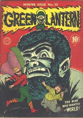 Origin and First Appearance, Vandal Savage, Green Lantern #10, DC Comics, 1944. Click for value