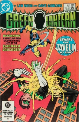 Origin and First Appearance, Javelin, Green Lantern #173, DC Comics, 1984. Click for value