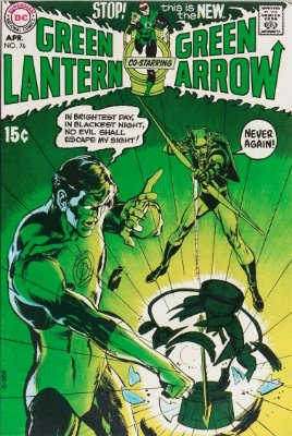 Green Lantern/Green Arrow #76 (April 1970): Green Arrow Brings Urban Reality to Green Lantern. A key Bronze Age book. Click for value