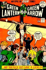 vintage comic books from the Bronze age: Green Lantern and Green Arrow