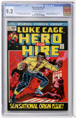 Luke Cage, Hero for Hire #1 is best bought in CGC 9.2 condition. Click to buy a copy