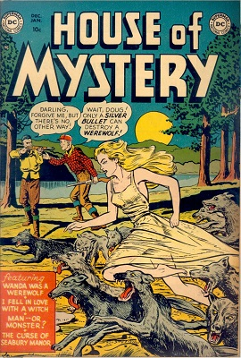 House of Mystery #1 (1952): First issue of long-running series of suspense and horror comic books. Click for value