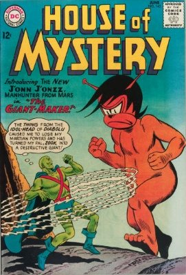 House of Mystery #143: (June, 1964) First Appearance of Martian Manhunter in HoM. Click for value
