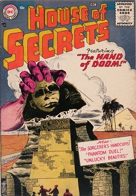 House of Secrets #1 (1956): First issue of classic horror comic books series. Click for value