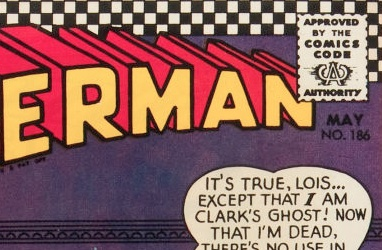 How to identify DC Comics: The dark purple background with black text here is a good example of some old DC issues hard to identify.