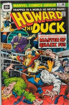Howard the Duck #3 30c Edition Variant May, 1976. Price in Starburst