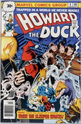 Howard the Duck #4 30 Cent Variant May, 1976. Starburst Price