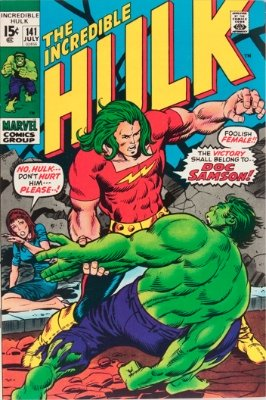 Doc Samson (First Appearance: Incredible Hulk #141, July, 1971). Click for value