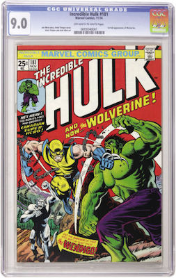 Invest in at least a VF-NM copy of Incredible Hulk #181. A CGC 9.0 with white pages will continue to appreciate in value. Click to buy