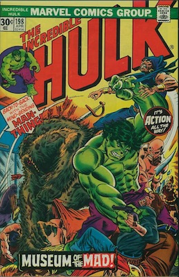 Incredible Hulk #198 Marvel 30c Price Variants April, 1976. Regular Price Box