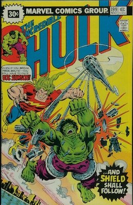 Incredible Hulk #199 30c Variant Edition May, 1976. Price in Starburst
