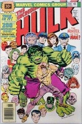 Incredible Hulk #200 30c Price Variant June, 1976. Starburst Flash