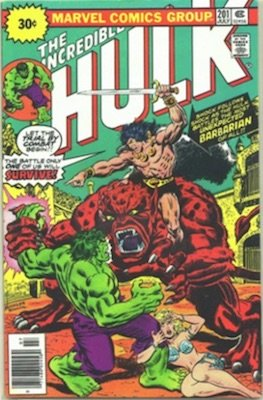 Incredible Hulk #201 30c Variant Edition July, 1976. Starburst Flash