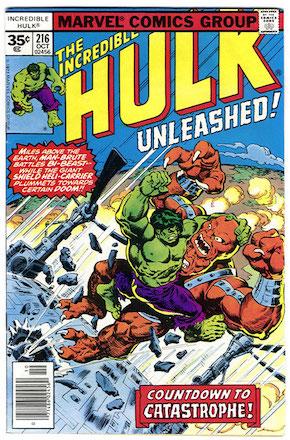 Incredible Hulk #216 35 Cent Variant