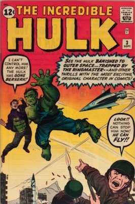 Incredible Hulk #3 (1962). Click for current values