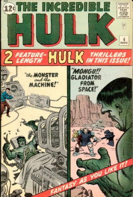 Incredible Hulk #4 from 1962. Click for current values
