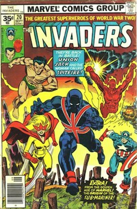 Invaders #20 Marvel 35 Cent Price Variants