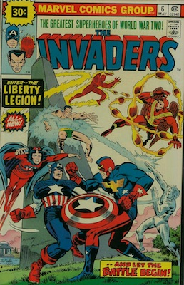 Invaders #6 Marvel 30c Price Variants May, 1976. Starburst Price