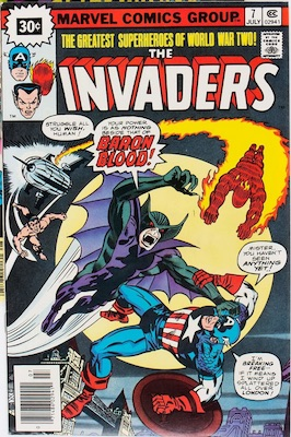 Invaders #7 Marvel 30c Variant July, 1976. Starburst Price