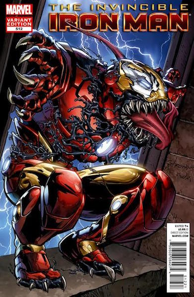 #30: Invincible Iron Man 512 Stroman Venom Variant (2012). Click for values